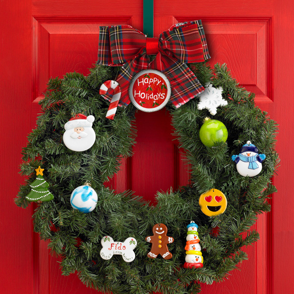 Holiday Wreath with Ornaments
