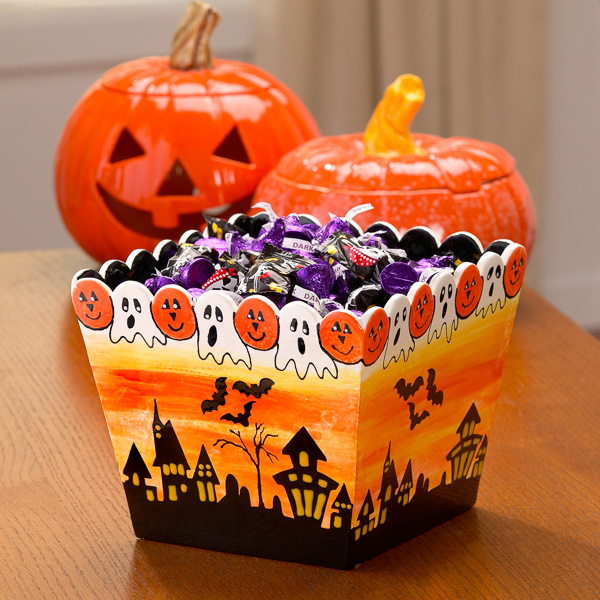 Spooky Candy Bowl for Halloween