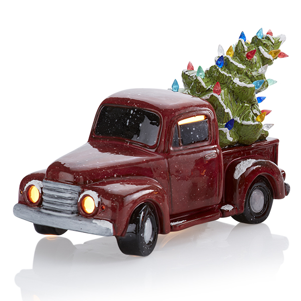 Vintage Truck with Tree - Pottery Glazes